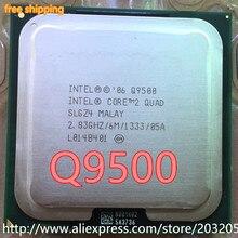 Процессор Intel Core 2 Quad Q9500 cpu(2,83 ГГц/6 м/1333 ГГц) Socket 775 настольный процессор(Рабочая