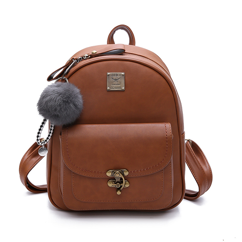 Women Backpacks Fashion PU Leather Shoulder Bag Small Backpack School Bags for Teenager Girls Female Bags Vintage Large Capacity embroidery pu leather backpack women large capacity back pack travel portable shoulder bags girl school bag fashion backpacks