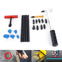 WHDZ PDR T Bar puller PDR Tool Dent Hammer with Aluminum Tap Down plastic Glue Puller Tab hot melt sticks Auto Dent Repair