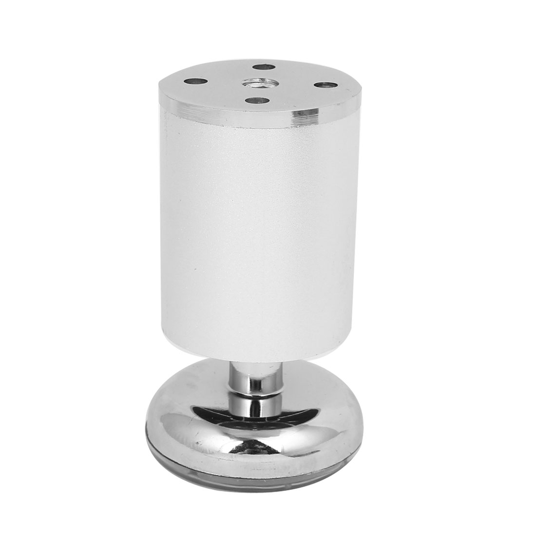 Cupboard Cabinet Metal Round Stand Adjustable Leg Feet Silver Tone ...