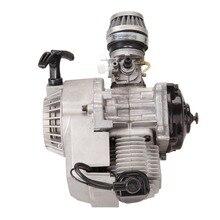 (Shipping From EU 49CC Mini Bike Quad 2-Stroke Motorcycle Engine Pullstart Carburettor thermal motor 150cc motor Air filter