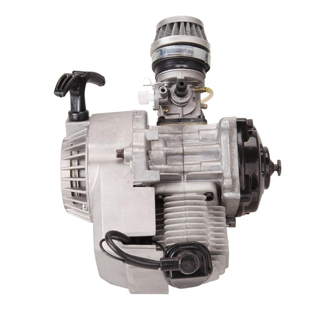 (Shipping From EU) 49CC Mini Bike Quad 2-Stroke Motorcycle Engine Pullstart Carburettor Thermal Motor 150cc Motor Air Filter