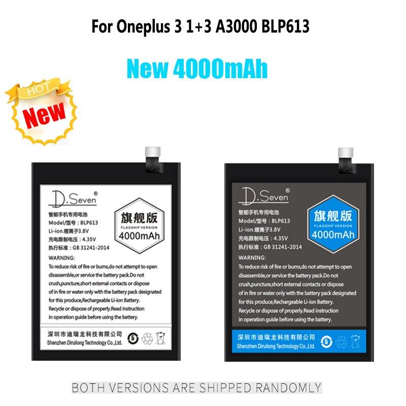 3000mAh 4000mAh Battery For Oneplus 3 1+3 3T A3000 BLP613 BLP633 3300mAh 5 5T A5000 A5001 A5010 Phone Batteries Replacement3000mAh 4000mAh Battery For Oneplus 3 1+3 3T A3000 BLP613 BLP633 3300mAh 5 5T A5000 A5001 A5010 Phone Batteries Replacement