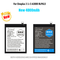 3000mAh 4000mAh Battery For Oneplus 3 1+3 3T A3000 BLP613 BLP633 3300mAh 5 5T A5000 A5001 A5010 Phone Batteries Replacement