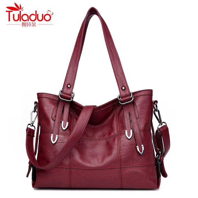 Famous Brand Women Handbags PU Leather Bag Women Tote High Quality Ladies Shoulder Bags Large Capacity Ladies Top-Handle Bags