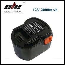 AEG 12VB Power Tool Battery 12V 2000mAh 2.0 Ah Ni-CD For B1214G,B1215R,B1220R,M1230R,BS12G,BS12X,BSB12G,BSB12STX,BSS12RW