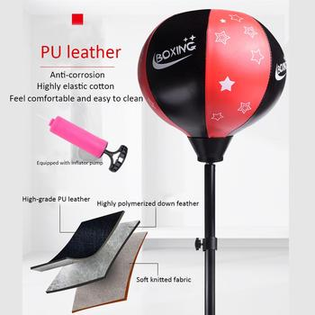 Vertical Punching Ball With Stand And Gloves Inflatable Big Boxing Sandbag With Adjustable Height Improve