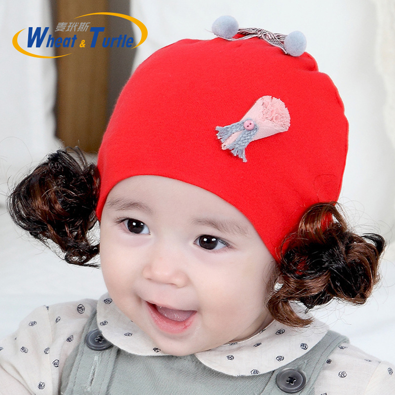 Imported From Abroad Fashion Newborn Toddler Kids Baby Boy Girl Turban Cotton Beanie Hat Winter Cap Baby Mesh Wig Hat