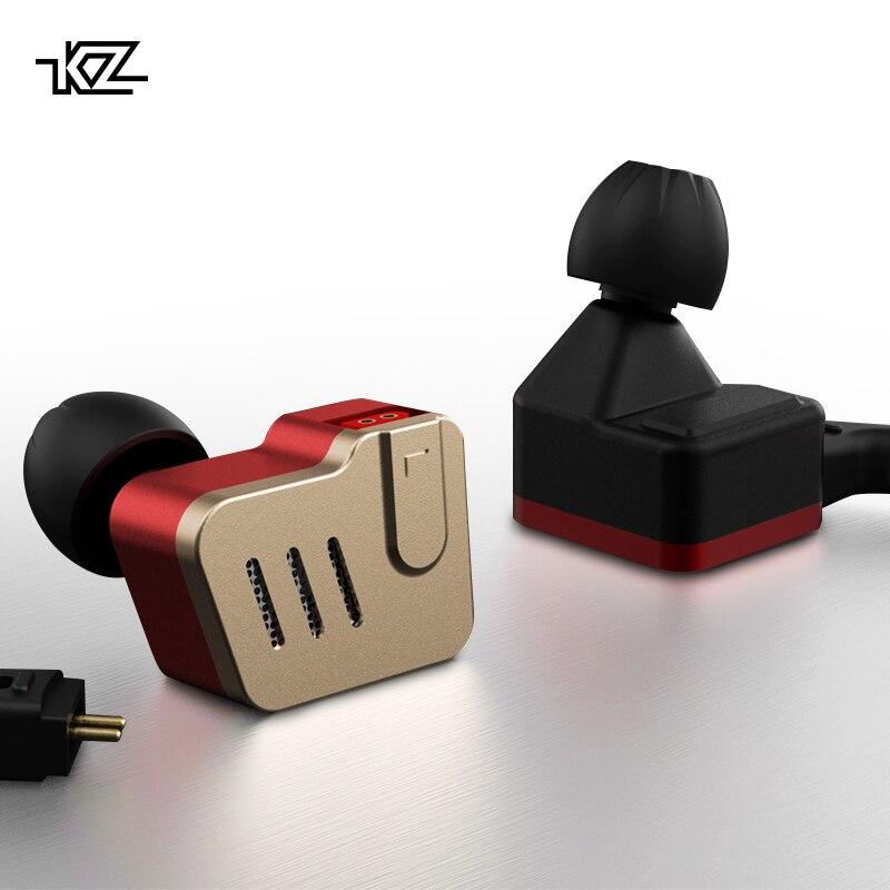 KZ BA10 Métal Écouteurs 5BA Armature Équilibrée Pilote HIFI Basse Casque Dans L'oreille Moniteur Sport Casque Antibruit Écouteurs