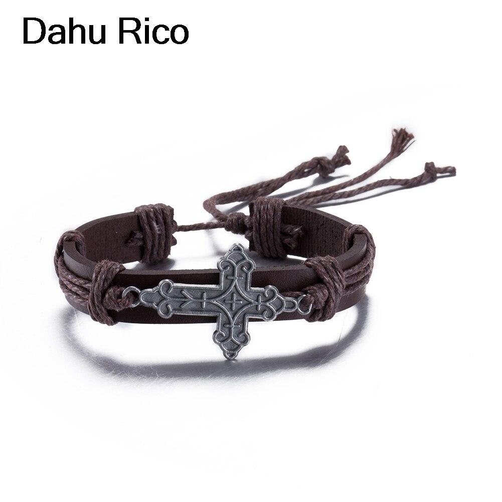 cross braclets bransoletka fathers day feminino beatle moda cosplay egipto native algeria Dahu Rico bracelets 30 cm adjustable