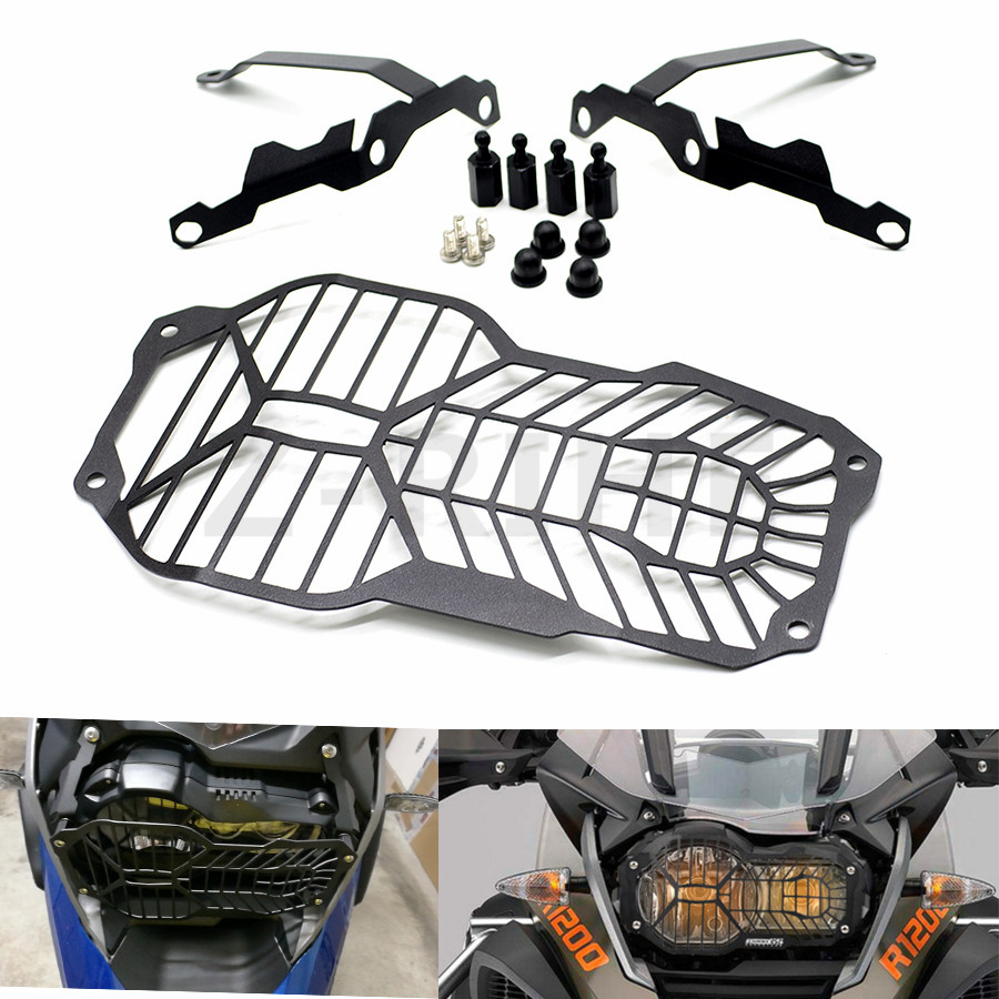 For BMW R1200 GS R1200GS Adventure R 1200GS Water Cooled models 2013 2014 2015 2016 Headlight Cover Protector Grill Head light hot motorcycle headlight head light grill guard cover protector for bmw r1200gs adventure 2013 2014 2015 2016 r 1200gs 1200 gs