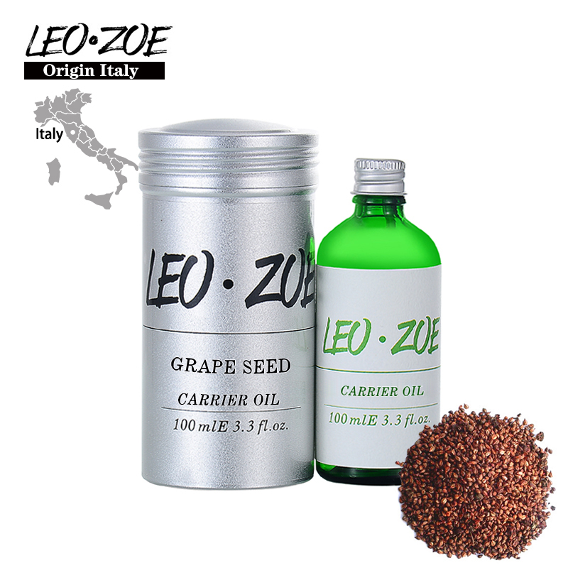 LEOZOE Pure Grape Seed Oil Certificate Of Origin Italy Authentication High Quality Grape Seed Oil 100ML Oleo Essencial high quality pure natural grape seed extract for antiaging 100g