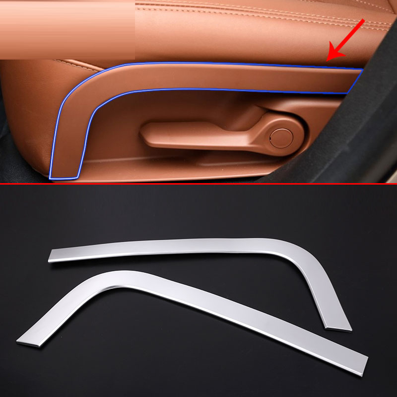 ABS Plastic Car Rear Row Seat Decoration Strips Trim for Maserati Levante 2016 2017 2018