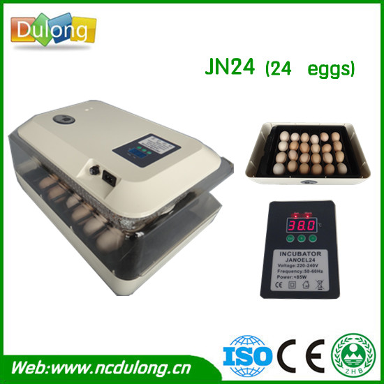Digital 24 Eggs Incubator Precise Temperature Control Mini Egg Hatcher Turning Chicken Goose Duck Egg Incubator Equipment 15 19 25 37 heads droplight clear bubble ball goose egg birds eggs duck egg double deck glass ball transparent pendant light
