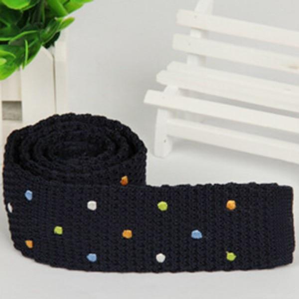 ᗚMutil colores de lunares corbata de punto corbata del lazo ...