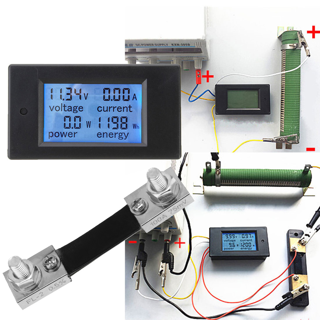 Aliexpress.com : Buy 0 100A DC Digital Multifunction Power Meter ...
