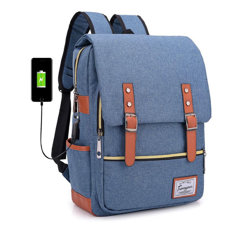 Nylon Backpacks School-Bags Laptop Travel Teenagers Vintage Girls Women Unisex for Boys