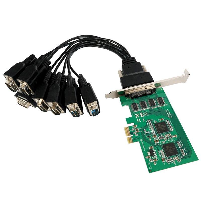 Carte série PCI express 8 ports de qualité industrielle pour Oxford PCIe954 PCI-e Multi RS232 DB9 COM port adaptateur support de profil bas