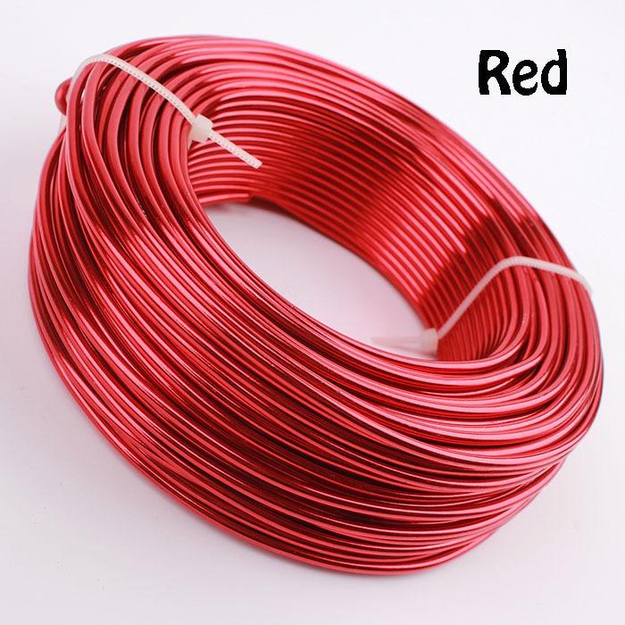 0,5 кг анодированная художественная алюминиевая проволока 2,5 мм 10 Калибр 39 м 43yd цветные украшения Мягкая металлическая проволока постоянные цвета - Цвет: Red