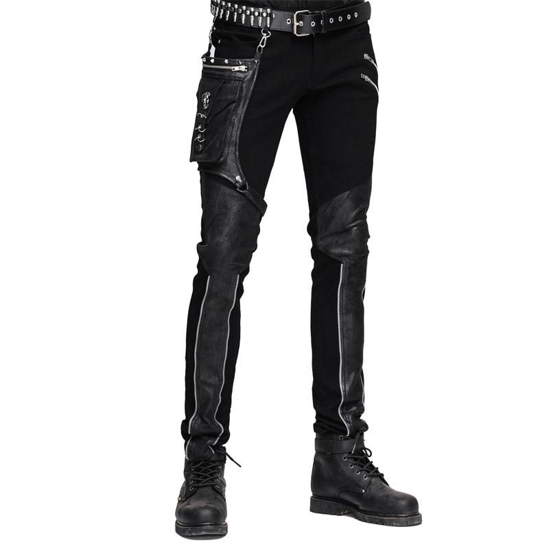 Männliche Winter Hosen Für Herren Männer With black Braun Slim Steampunk Taille Casual Schwarz Black Lange Hohe Fit Strumpfhosen Brown qCg6OwXt