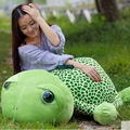 Dorimytrader 120cm Big Lovely Animal Tortoise Stuffed Toy 47'' Giant Green Turtle Plush Doll Pillow Christmas Baby Gift DY61336