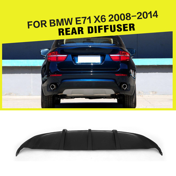 Car FRP Rear Diffuser Lip Bumper Guard Car-Styling for BMW X6 E71 Standard 2008 - 2014 image