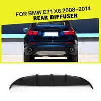 Difusor trasero FRP para parachoques de coche  protector de parachoques  estilismo para coche para BMW X6 E71 estándar 2008 - 2014