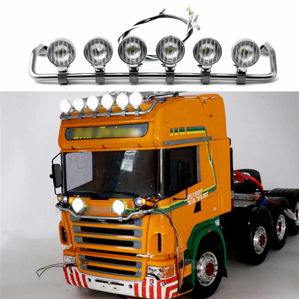 Tractor Truck LED Spotlight Top Licht Voor TAMIYA 1/14 Scania R620 R470 RC Model Tractor Truck Auto LED Top lamp