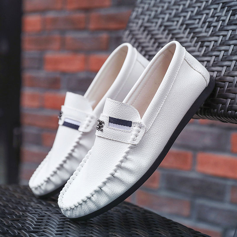 86e76f6b80aac Moccasins Gommino Leather Drivers With Sylvie Web Buckle Loafers Soft Slipper  Men Flats Casual Winter Classic Moc Boat Shoes-in Men's Casual Shoes from  ...