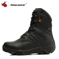 Motorcycle Boots High Ankle Racing Moto Boots Men Military Boots Quality Special Force Tactical Desert Combat Army Work Boots