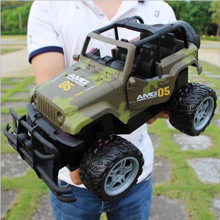 30 cm adultes enfants jouets 1:16 4 canaux 2.4G haute vitesse télécommande RC hummer escalade voiture de fond - 2
