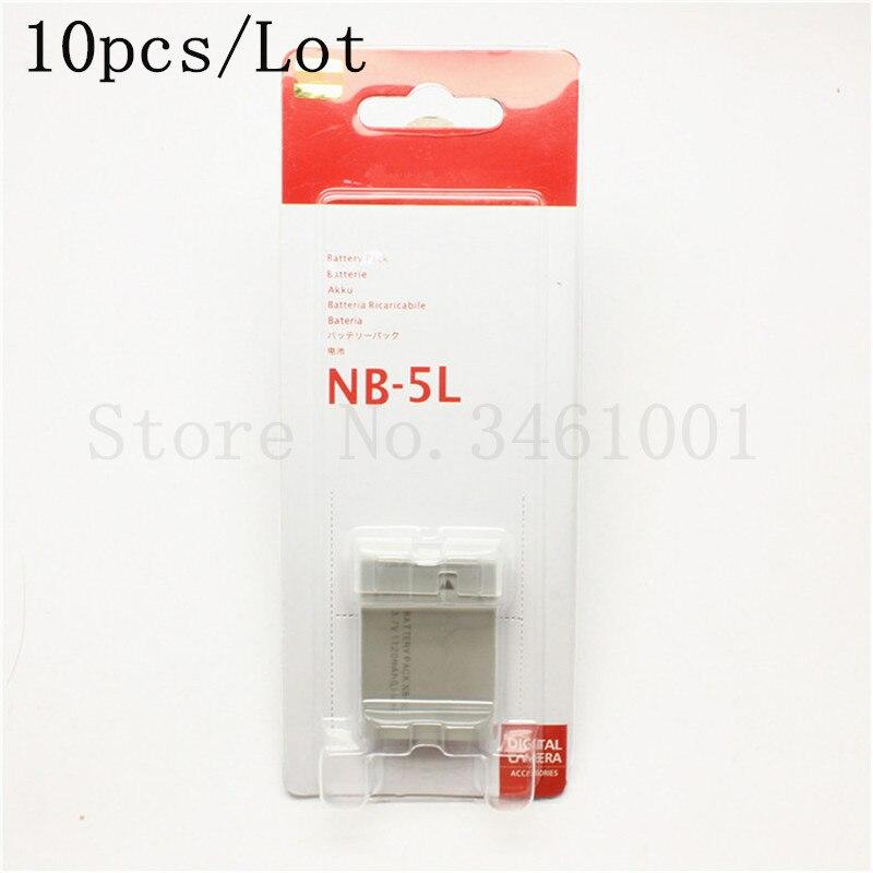 10pcs lot NB 5L Battery For Canon IXUS 870 860 850 800 90 900 960 970