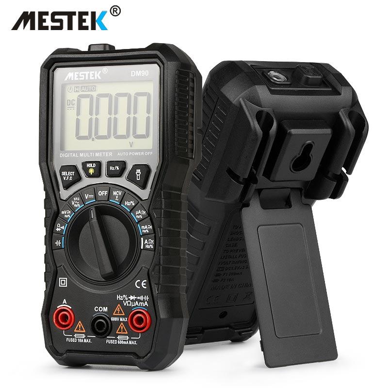 MESTEK DM90 mini multímetro digital de rango automático tester multimetre mejor que pm18c multímetro multiprobador