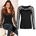 autumn winter 2016 NEW Sexy Women's Fashion Long Sleeve Tops Polka Dots Casual Loose Blouse Shirt