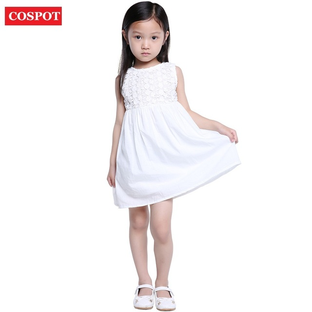 Solid white baby dress