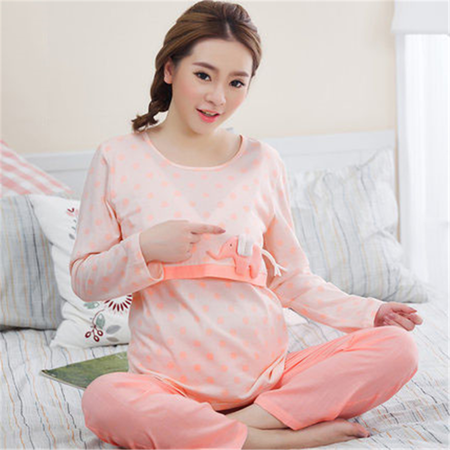 Us Pregnant Women Sleepwear Maternity Nursing Pajamas Breast