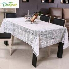 Nappe Floral Tischdecken für hochzeiten Baumwolle Gehäkelte Tabelle Abdeckung Stoff Rustikalen Kaminsimse Hochzeit Dekoration Billige Artikel