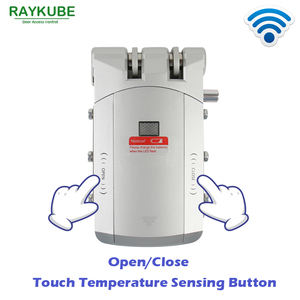 Image 2 - RAYKUBE Electric Door Lock Wireless Control With Remote Control Open & Close Smart Lock Security Door Easy Installing R W03