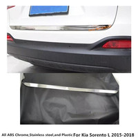 car Stainless steel Rear back door License tailgate bumper frame plate trim lamp trunk For Kia Sorento L 2015 2016 2017 2018