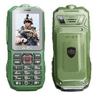Waterproof IP67 Long Standby Cellphone Flashlight Mp3 Recorder Radio Dual SIM Card Dustproof Shockproof Rugged Mobile