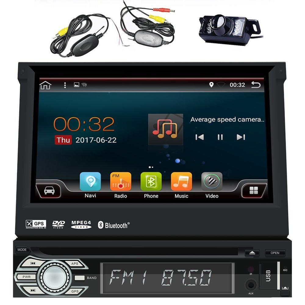 Android 6 0 Single Din Head Unit 7 inch Car Stereo GPS DVD CD font b