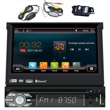 Android 6.0 Single Din Head Unit 7 inch Car Stereo GPS ,DVD CD Player,Bluetooth,SWC,Wifi 3G 4G,OBD,DAB,AV Output+Wireless Camera