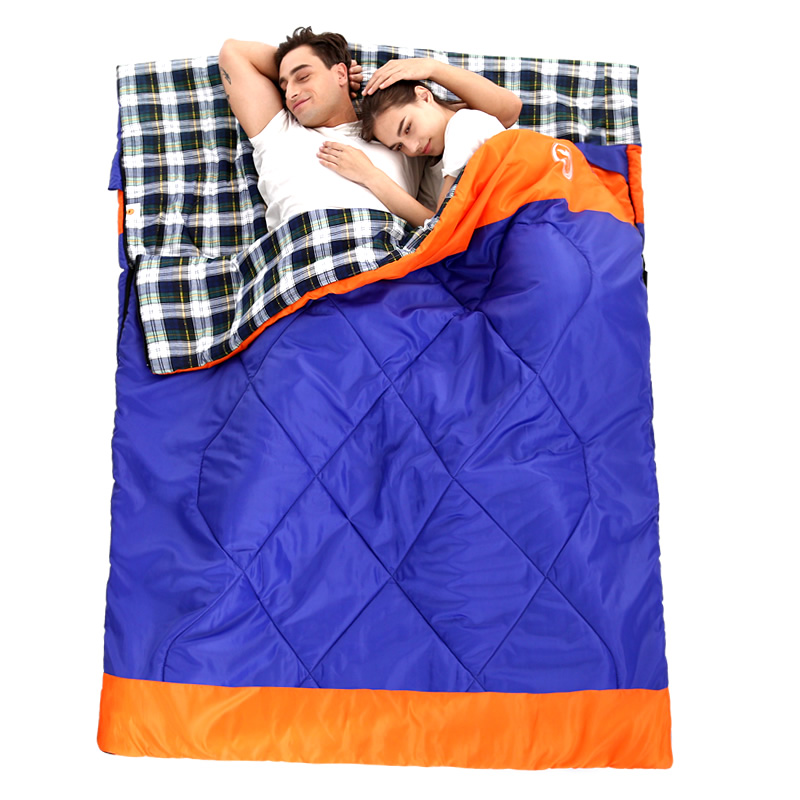 2 Person Outdoor Camping Sleeping Bag Couple 220*150CM Warm Winter Hooded Envelope Sleeping Bag Sleeping Bag Adult Travel outdoor adult autumn and winter sleeping bag camping sleeping bag lengthened warm cotton indoor envelope sleeping bag 1 3kg