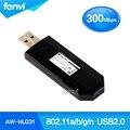 Mini 300 mbps usb sem fio wi-fi 802.11a/b/g/n adaptador dongle adaptador usb wi-fi aw-nu231 azurewave melhor lg an-wf100