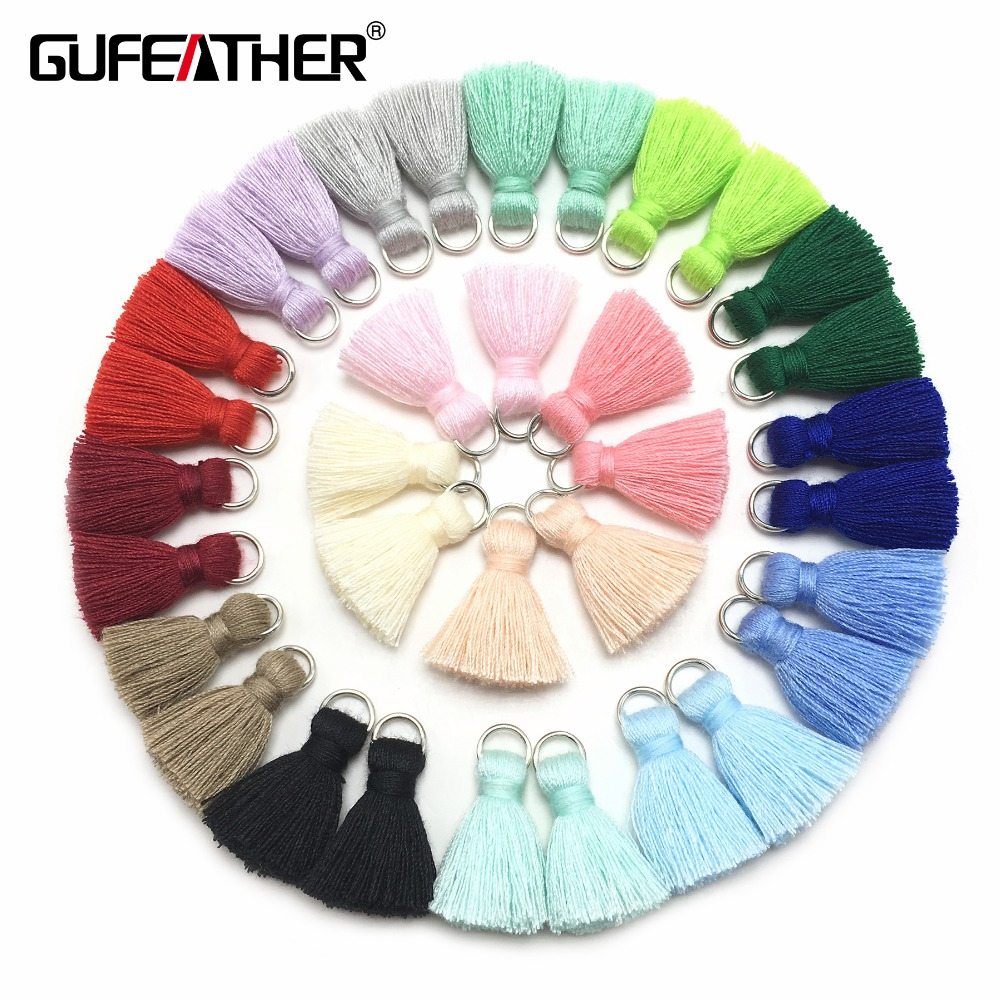 GUFEATHER L46/ 2cm Tassel/cotton tassel bursh/accessories jewelry/jewelry making/DIY/hand made jewelry/Earring tassels/bag loop