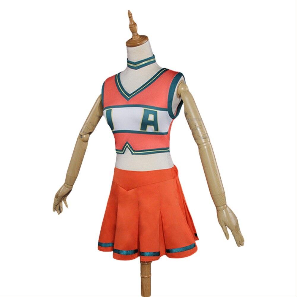 Free Shipping My Hero Academia Cosplay boku no hero academia Cosplay Costume Asui Tsuyu Cosplay Costume Cheerleader Uniform