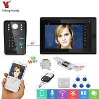 YobangSecurity Video Intercom 7 Inch Monitor Wifi Wireless Video Door Phone Doorbell KIT RFID Password+Door Lock+Power Supply