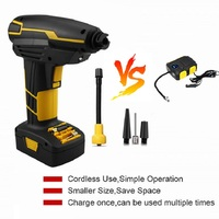 Cordless Air Compressor, Portable Tire Inflator, Hand Held Air Pump with Digital LCD Rechargeable Li ion