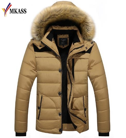 2018 New Brand Clothing Men's Winter Parkas Long Style Casual Loose Fit Hooded Jacker For Warm Winter Jacket Men Padded casual style head portrait pattern loose hooded fleeces