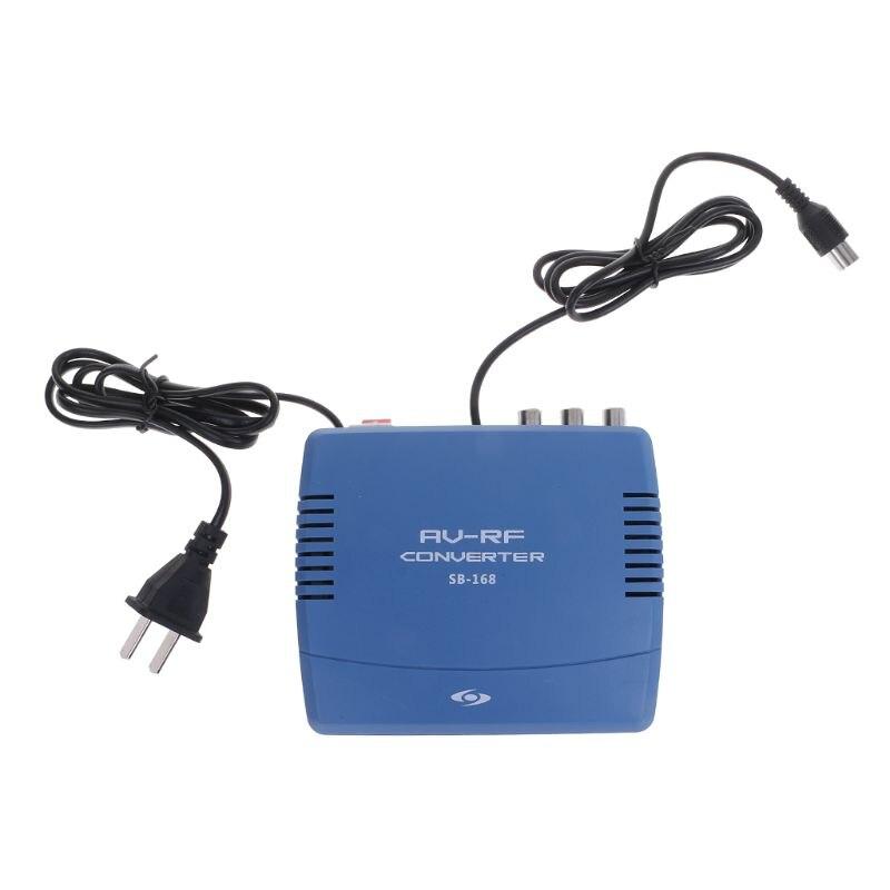 AV-RF Conversor de Sistema de TV de Sinal Padrão de Sinal De Vídeo E Áudio de Televisão TV Modulador 220V Estéreo Via Dupla